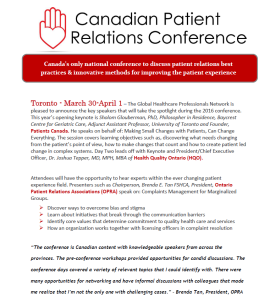 Canadian Patient Relations Conference