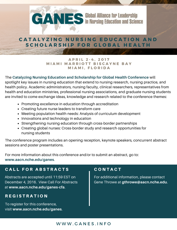 Third International Conference: Catalyzing Nursing Education and Scholarship for Global Health