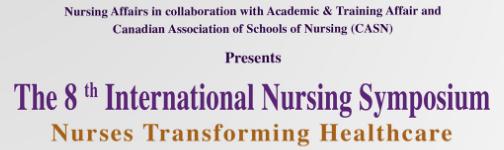 The 8th International Nursing Symposium – Nurses Transforming Healthcare