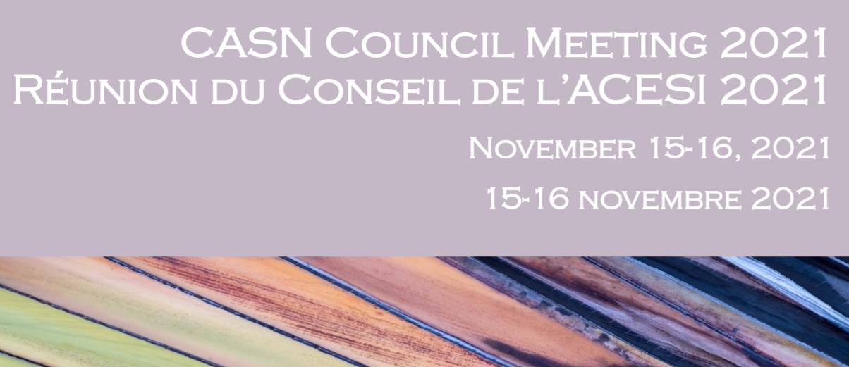 The Canadian Association of Schools of Nursing (CASN) 2021 Virtual Council Meeting