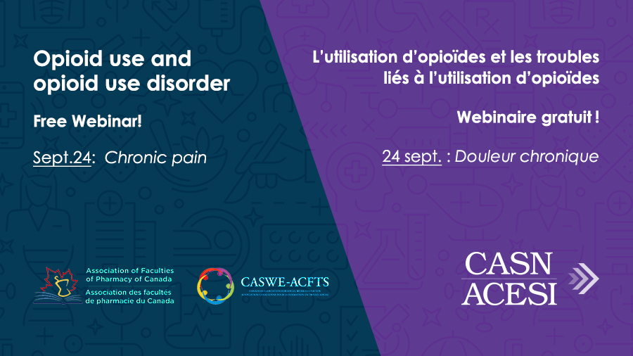 Free Webinar! Opioid use and opioid use disorder: Chronic pain